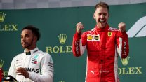 Lewis Hamilton, Sebastian Vettel, Ferrari, Albert Park, 2018