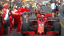 Maurizio Arrivabene, Sebastian Vettel, Ferrari, Albert Park, 2018