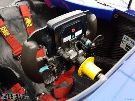 Billy Monger's steering wheel, British F3, Oulton Park, 2018