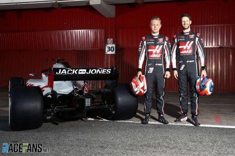 Romain Grosjean, Kevin Magnussen, Haas, Circuit de Catalunya, 2018