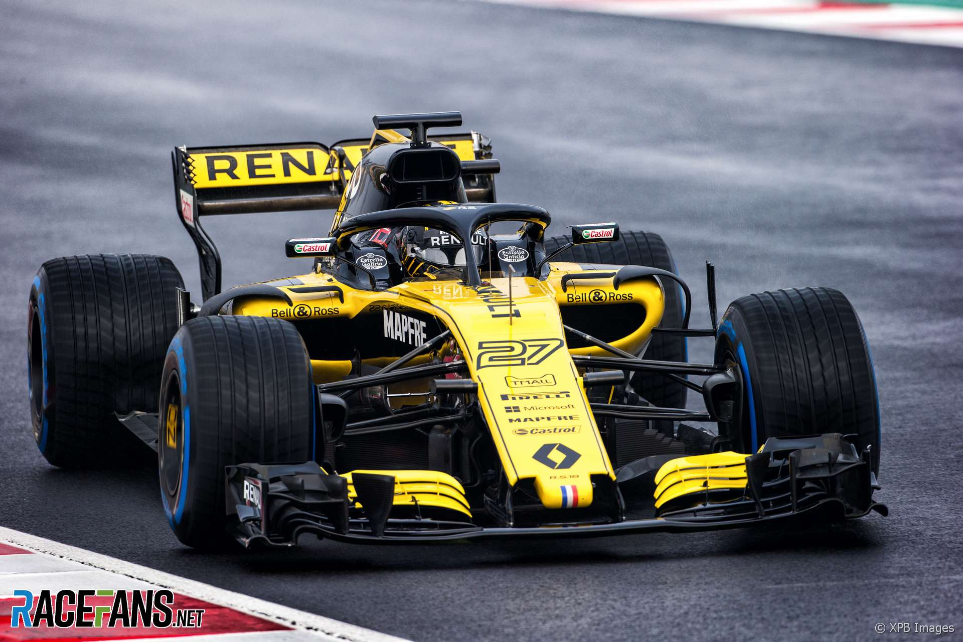 nico hulkenberg renault circuit de catalunya 2018 racefans. Black Bedroom Furniture Sets. Home Design Ideas