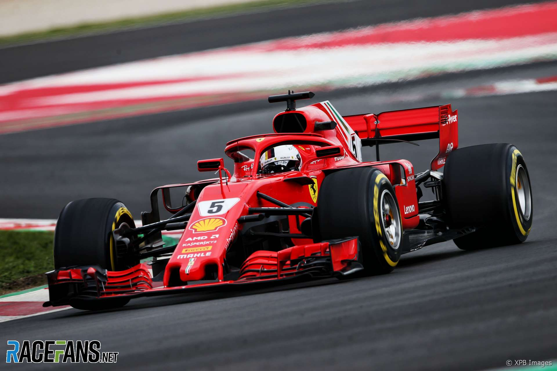 sebastian vettel ferrari circuit de catalunya 2018 racefans. Black Bedroom Furniture Sets. Home Design Ideas