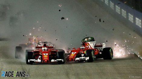 Sebastian Vettel, Kimi Raikkonen, Ferrari, Singapore, 2017
