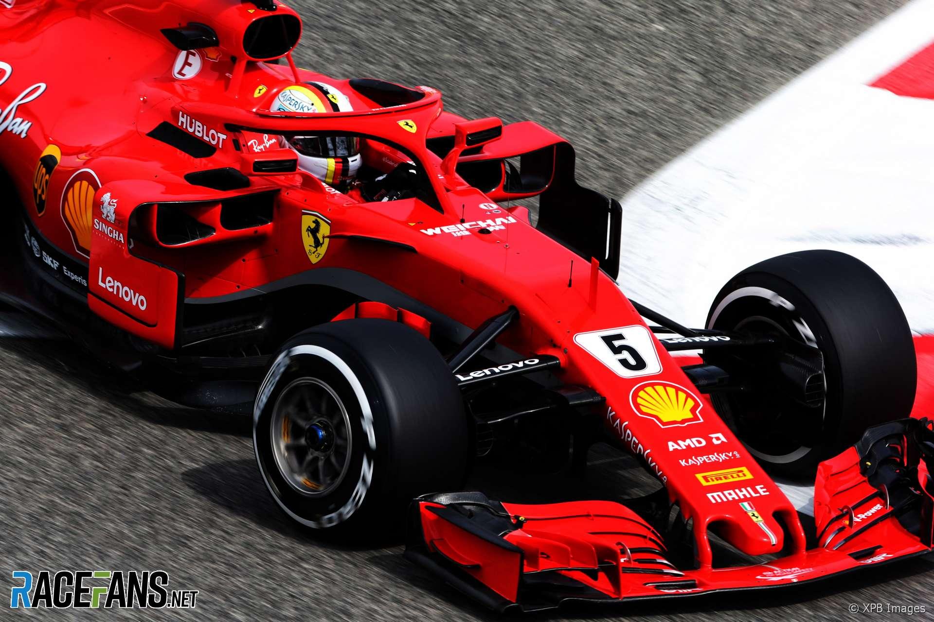 Sebastian Vettel Ferrari Bahrain International Circuit