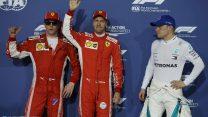 Vettel leads Ferrari one-two after Verstappen crashes