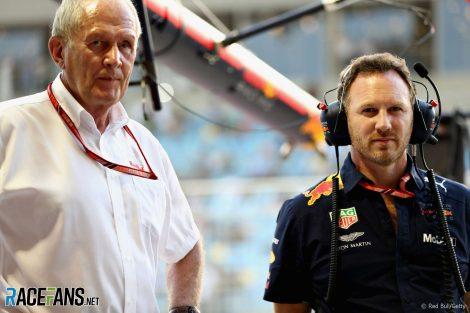 Helmut Marko, Adrian Newey , Red Bull, Bahrain International Circuit, 2018