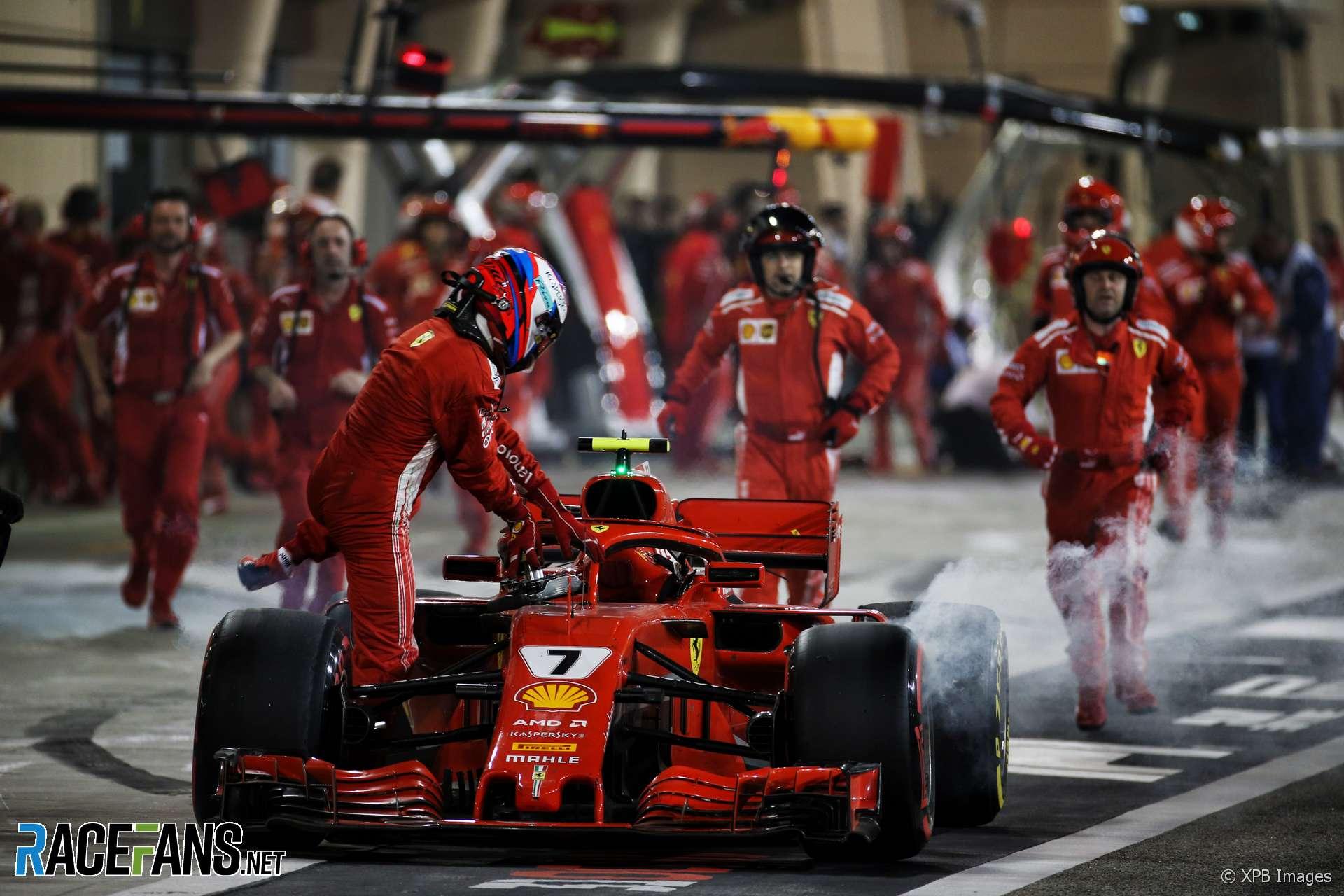 Kimi Raikkonen, Ferrari, Bahrain International Circuit, 2018