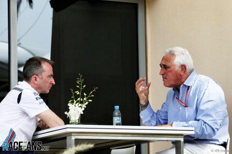 Paddy Lowe, Lawrence Stroll, Bahrain, 2018