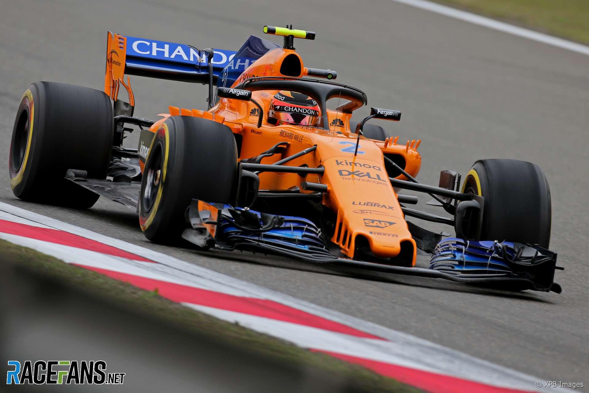 Stoffel Vandoorne, McLaren, Shanghai International Circuit, 2018