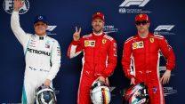 Vettel snatches pole from Raikkonen again