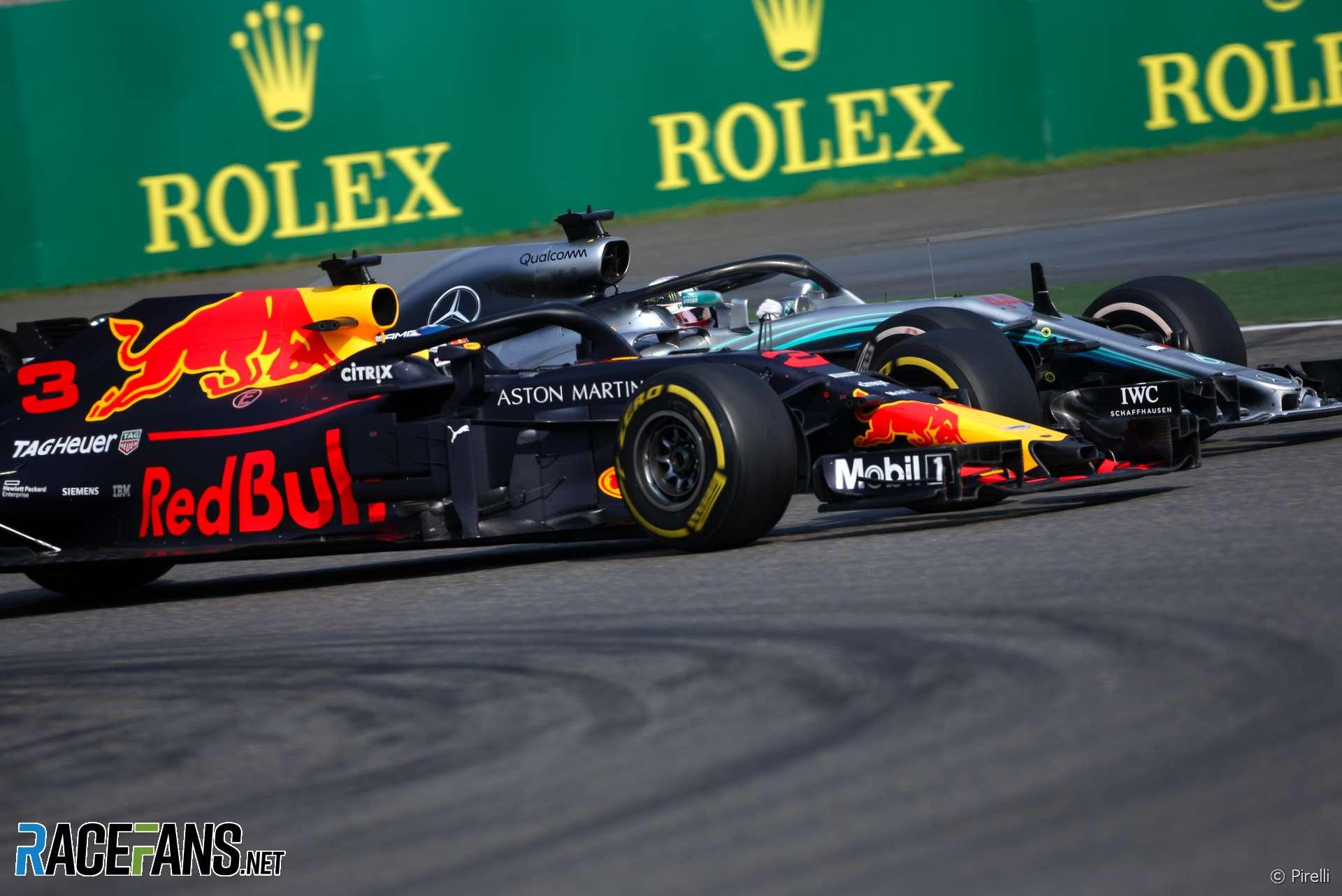 Daniel Ricciardo, Valtteri Bottas, Shanghai International Circuit, 2018