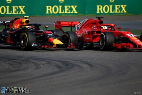 Max Verstappen, Sebastian Vettel, Shanghai, 2018