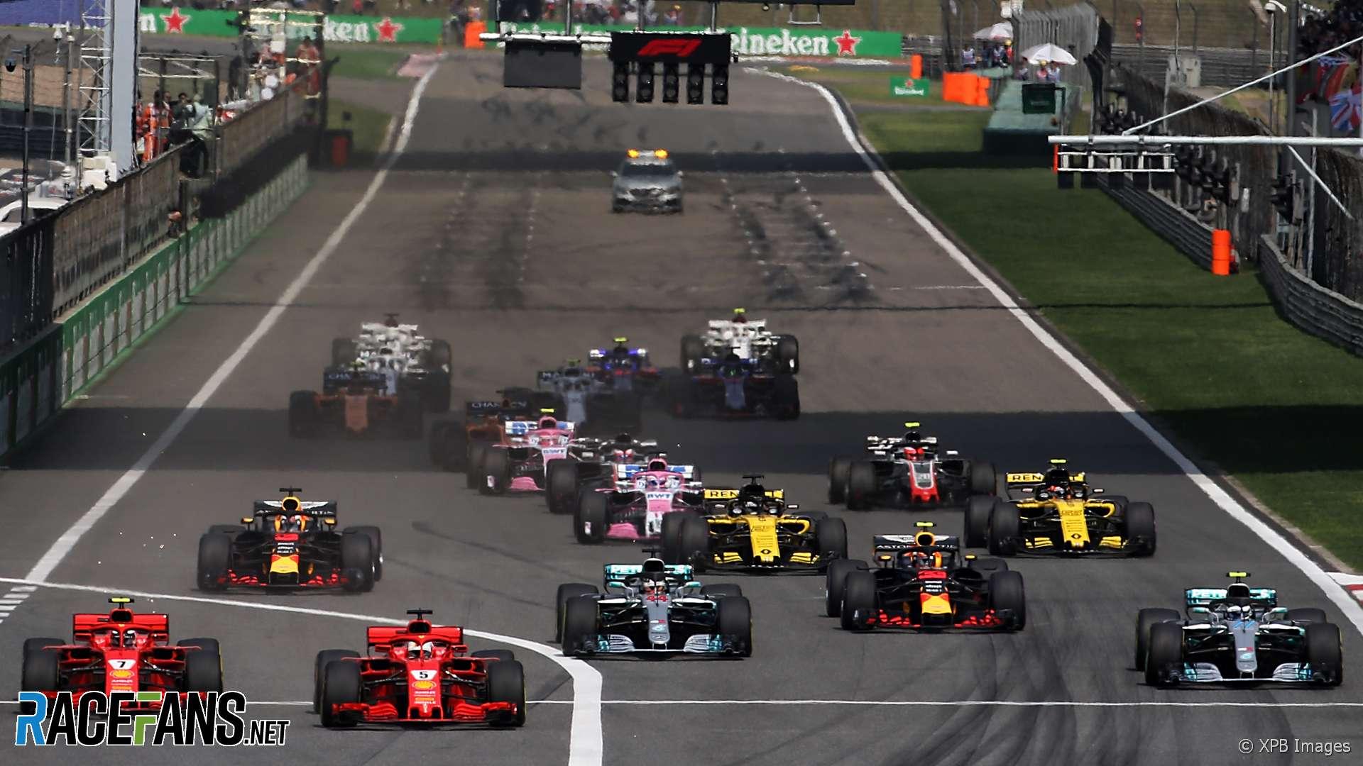 Start, Shanghai International Circuit, 2018