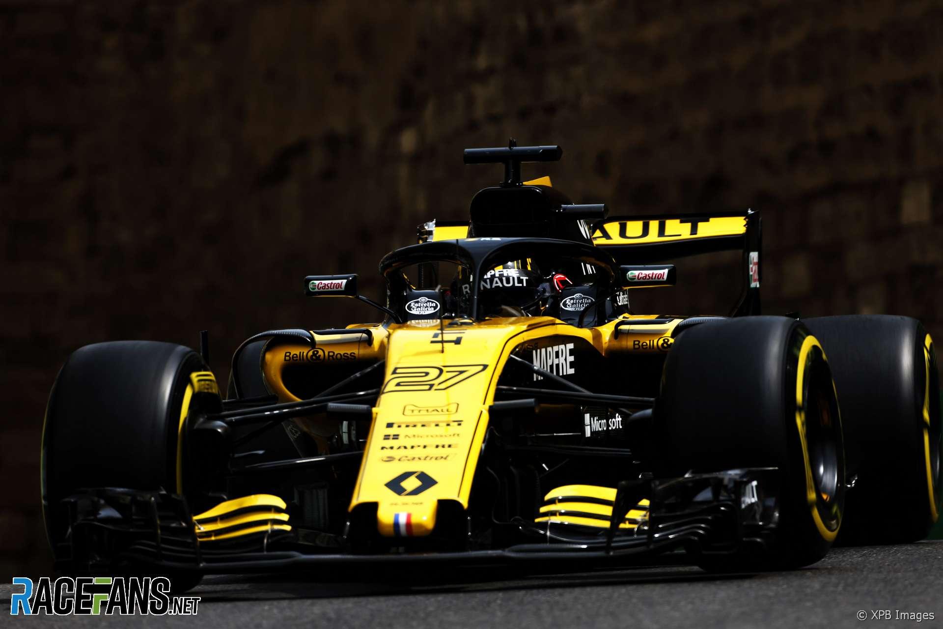 Nico Hulkenberg, Renault, Baku City Circuit, 2018