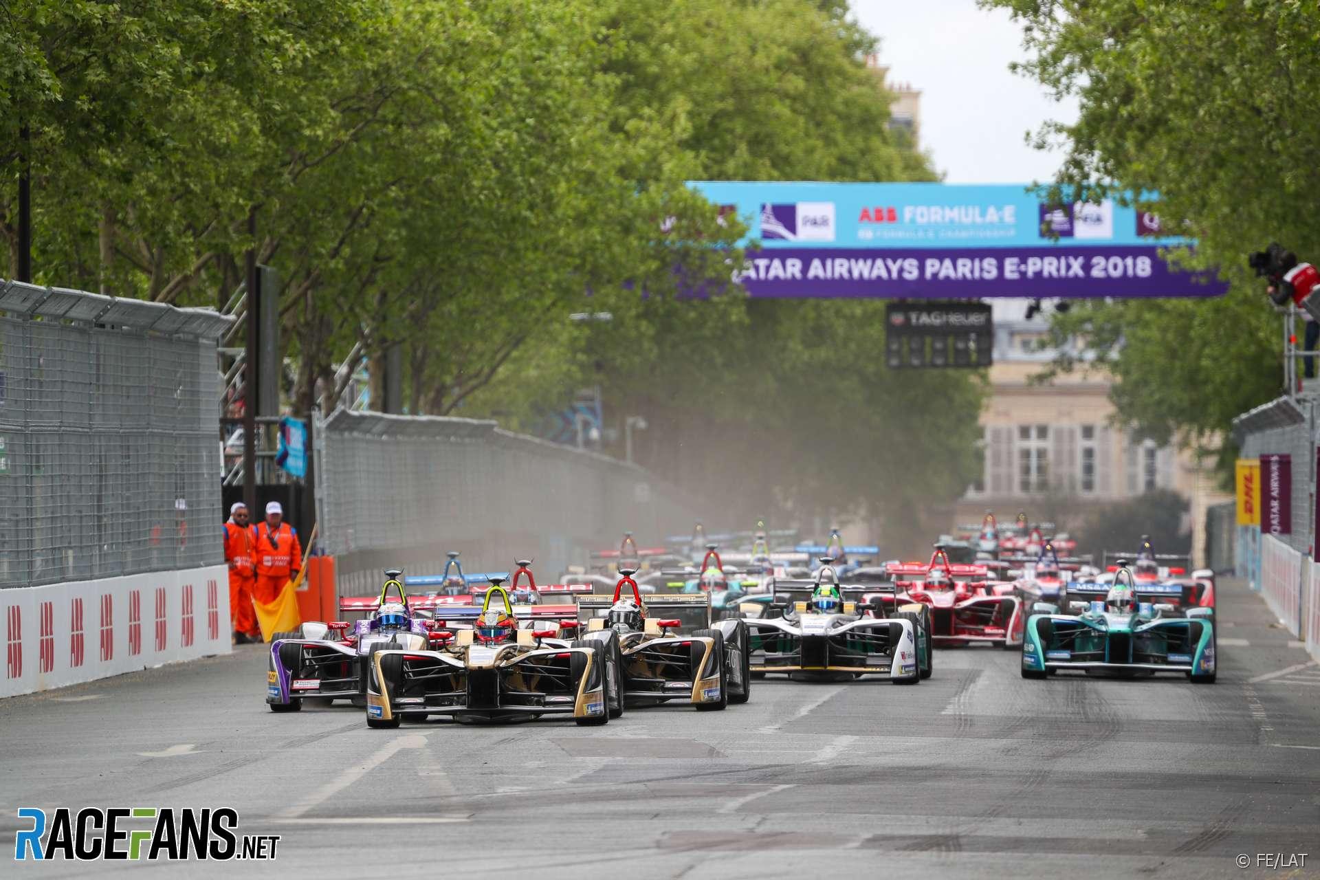 Start, Formula E, Paris, 2018