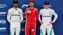 Vettel on pole again as Raikkonen slips up