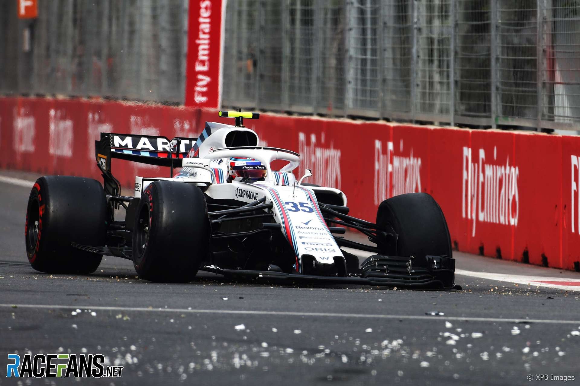 Sergey Sirotkin, Williams, Baku City Circuit, 2018