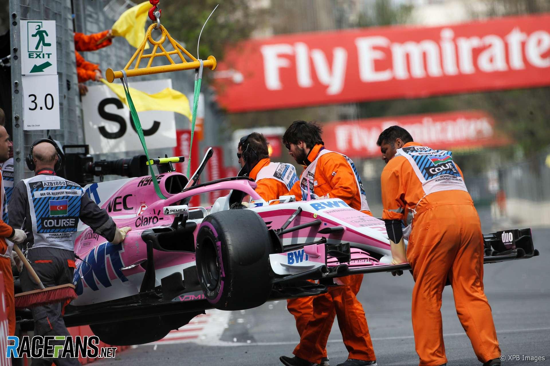Esteban Ocon, Force India, Baku City Circuit, 2018