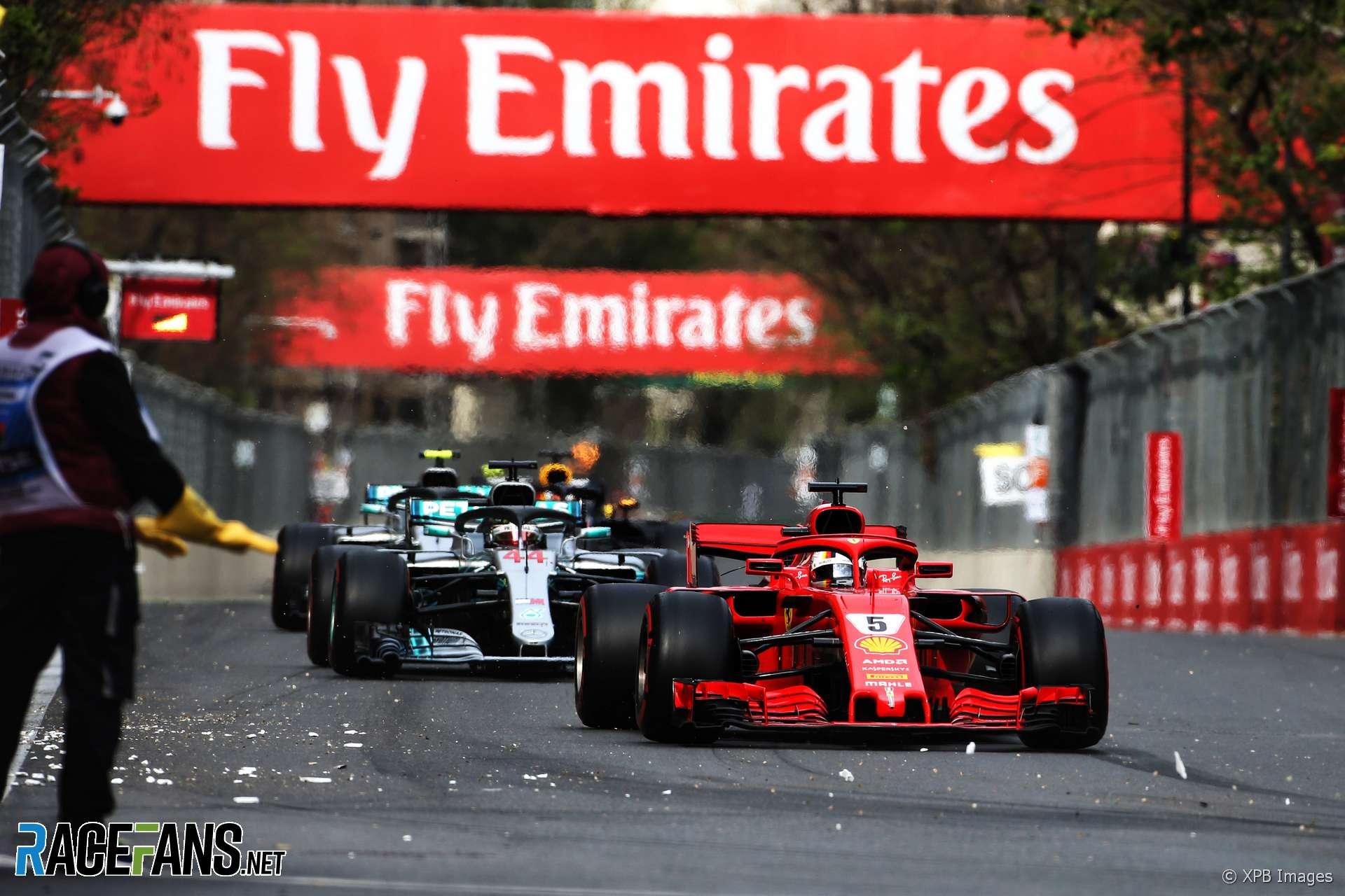 Sebastian Vettel, Ferrari, Baku City Circuit, 2018