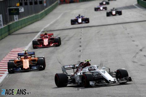 Charles Leclerc, Sauber, Baku City Circuit, 2018