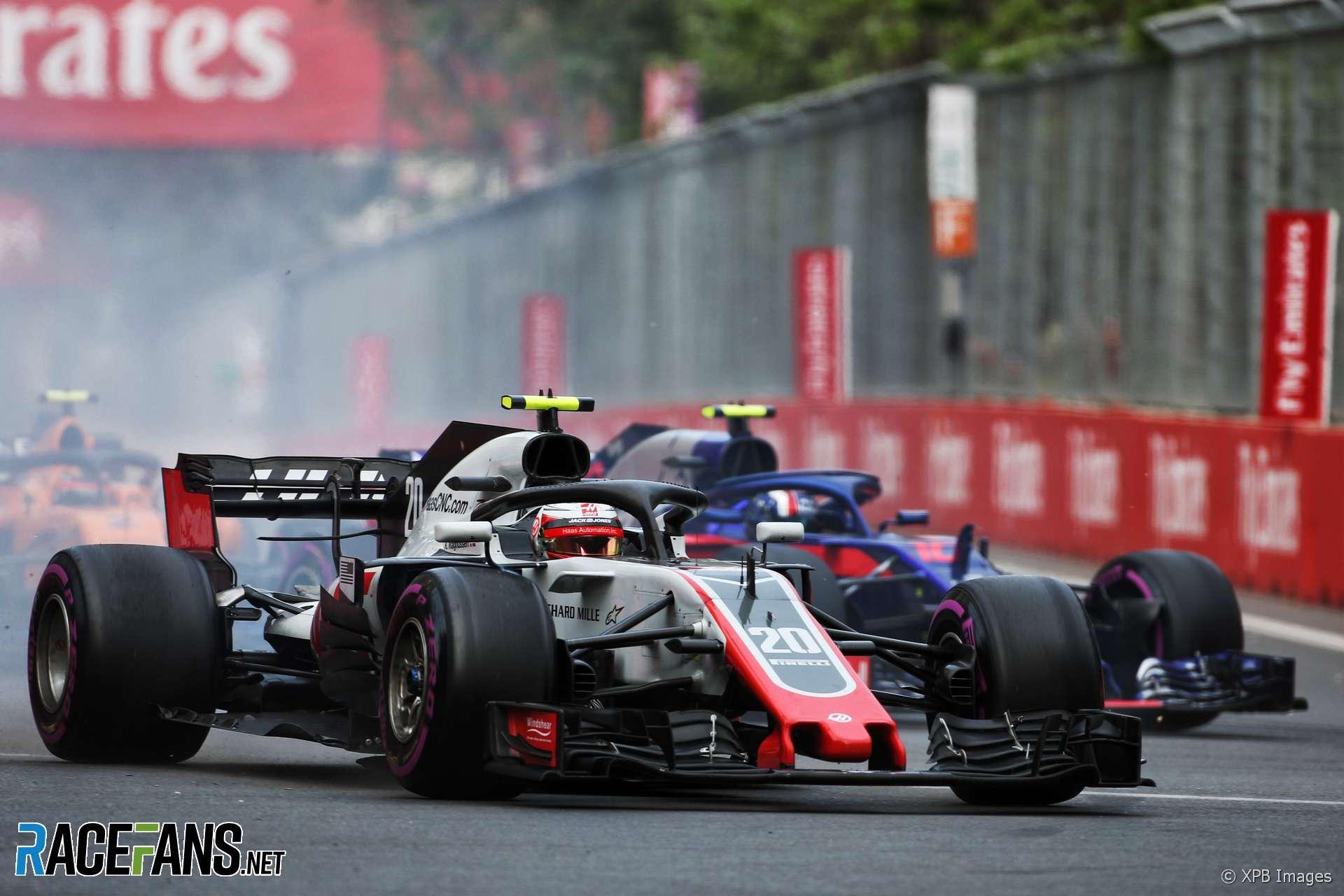 Kevin Magnussen, Haas, Baku City Circuit, 2018