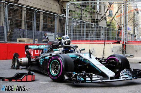 Valtteri Bottas, Mercedes, Baku City Circuit, 2018