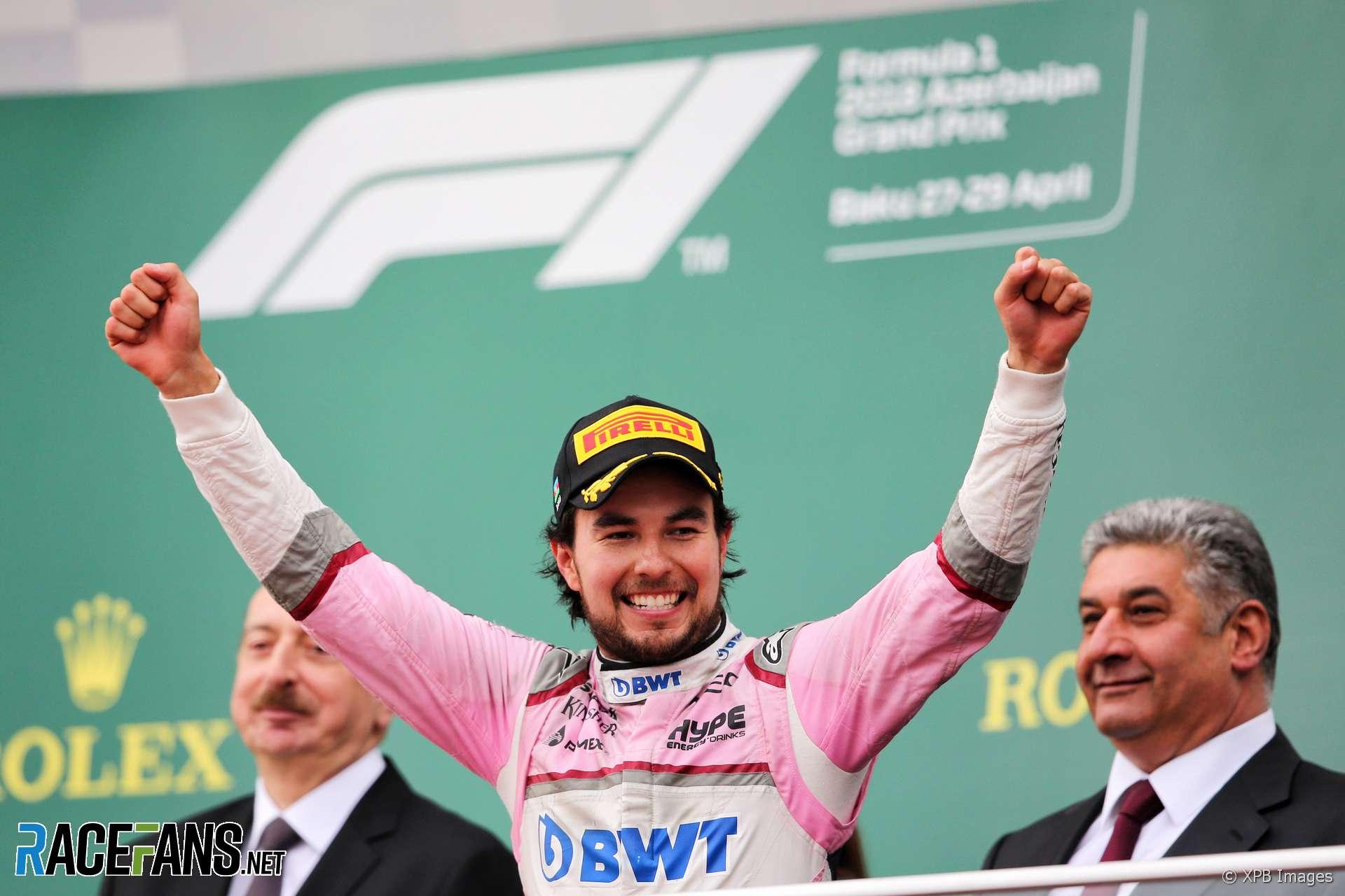 Sergio Perez, Force India, Baku City Circuit, 2018