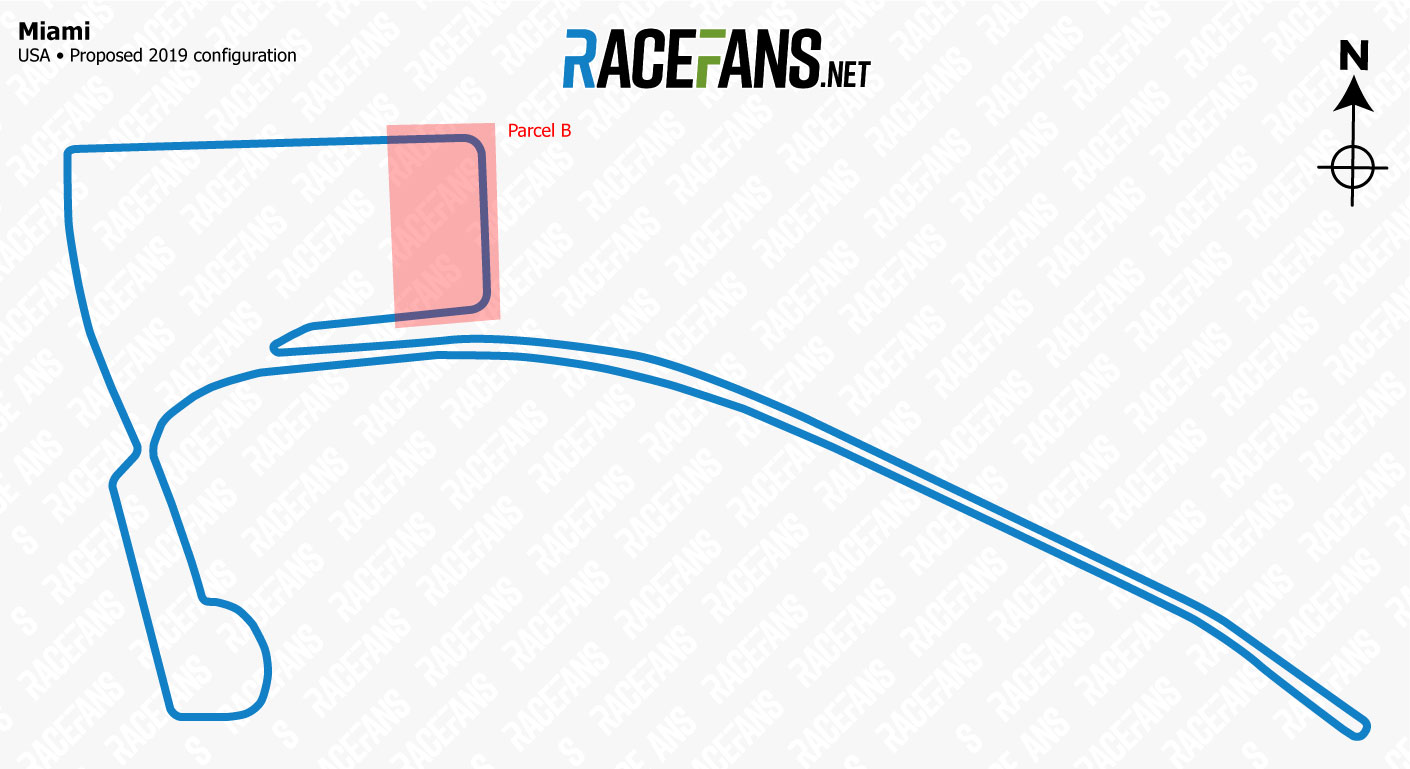 Miami Grand Prix proposed track map