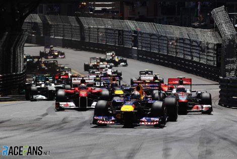 Start, Monaco Grand Prix, 2011