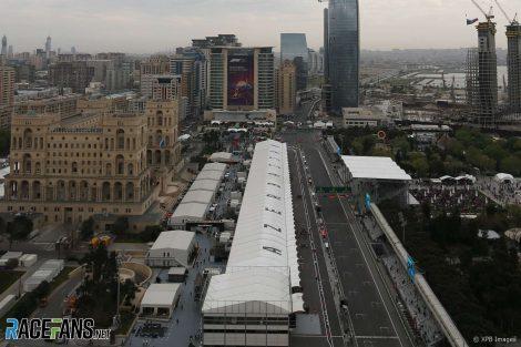 Paddock, Baku, 2018