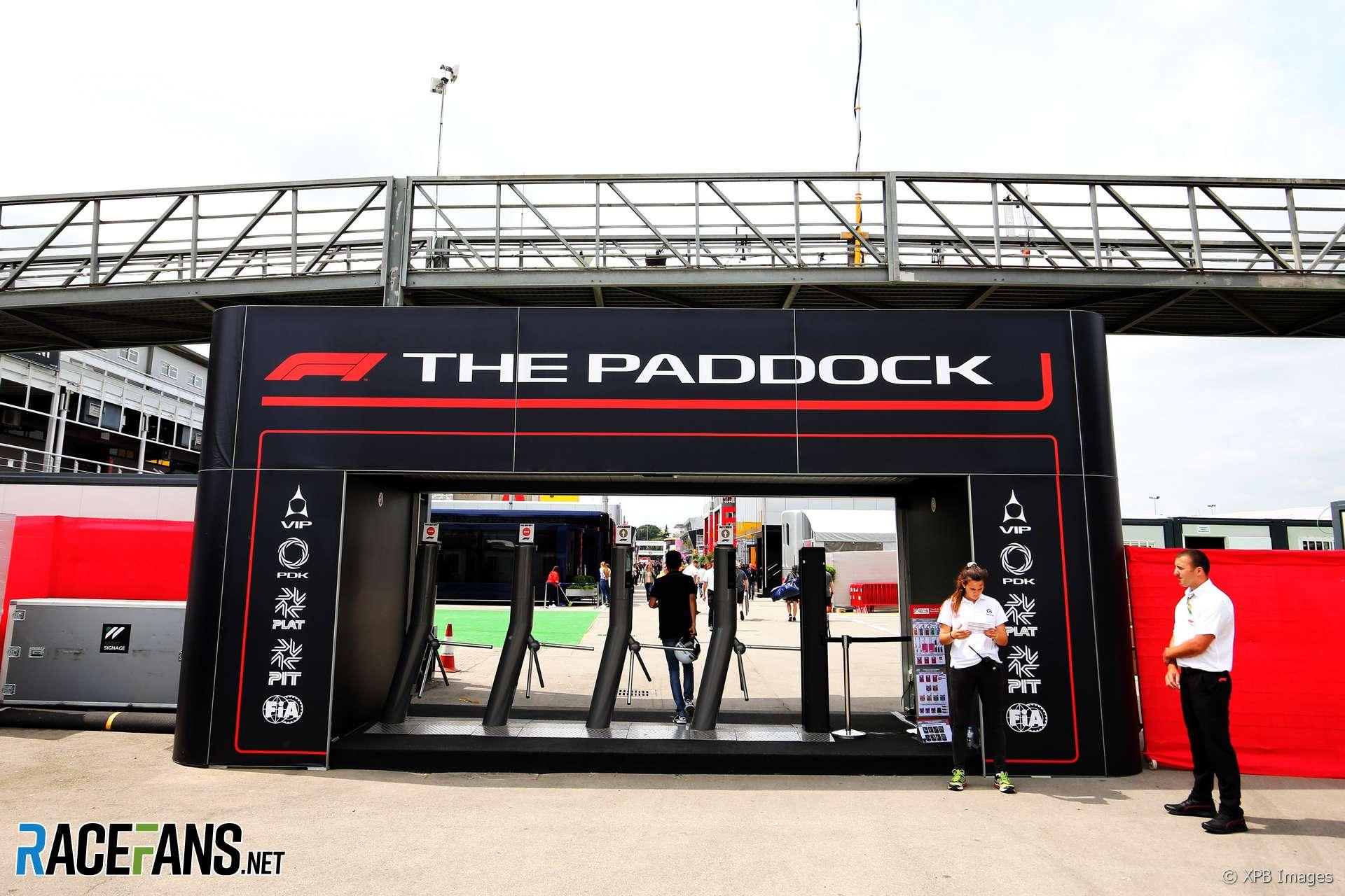Paddock, Circuit de Catalunya, 2018