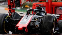 Grosjean says he couldn't avoid being hit by others in crash