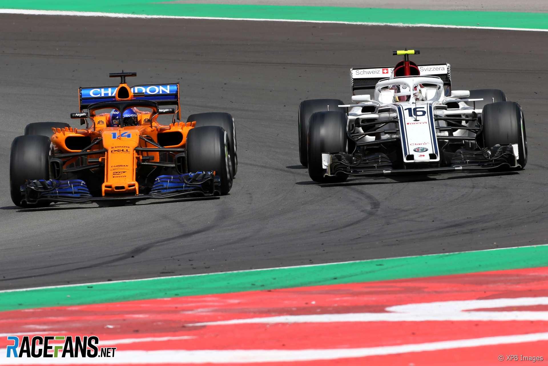 Fernando Alonso, Charles Leclerc, Circuit de Catalunya, 2018