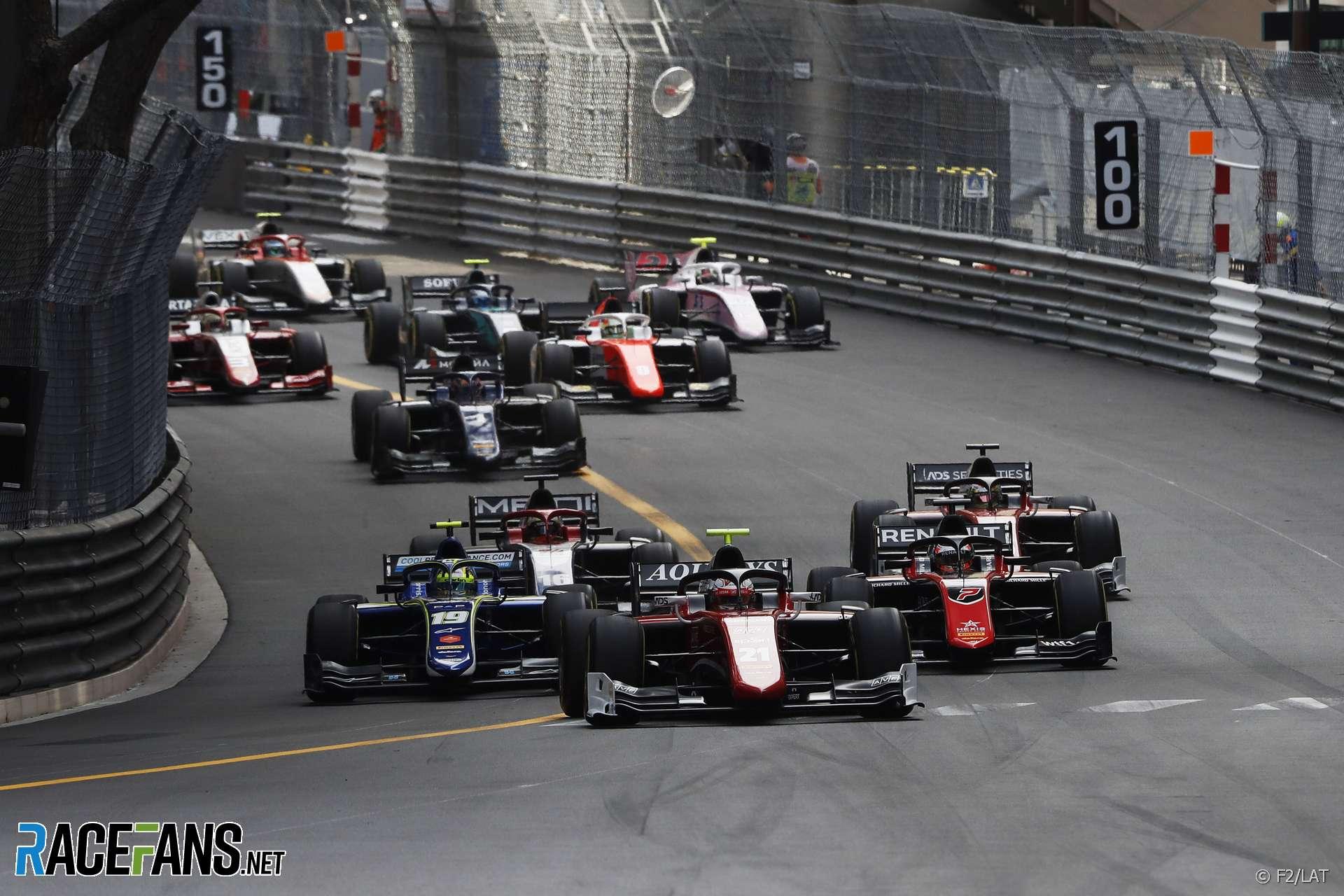 Start, F2, Monaco, 2018