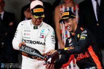 """Hamilton says it's """"unlikely"""" Ricciardo will join Mercedes"""