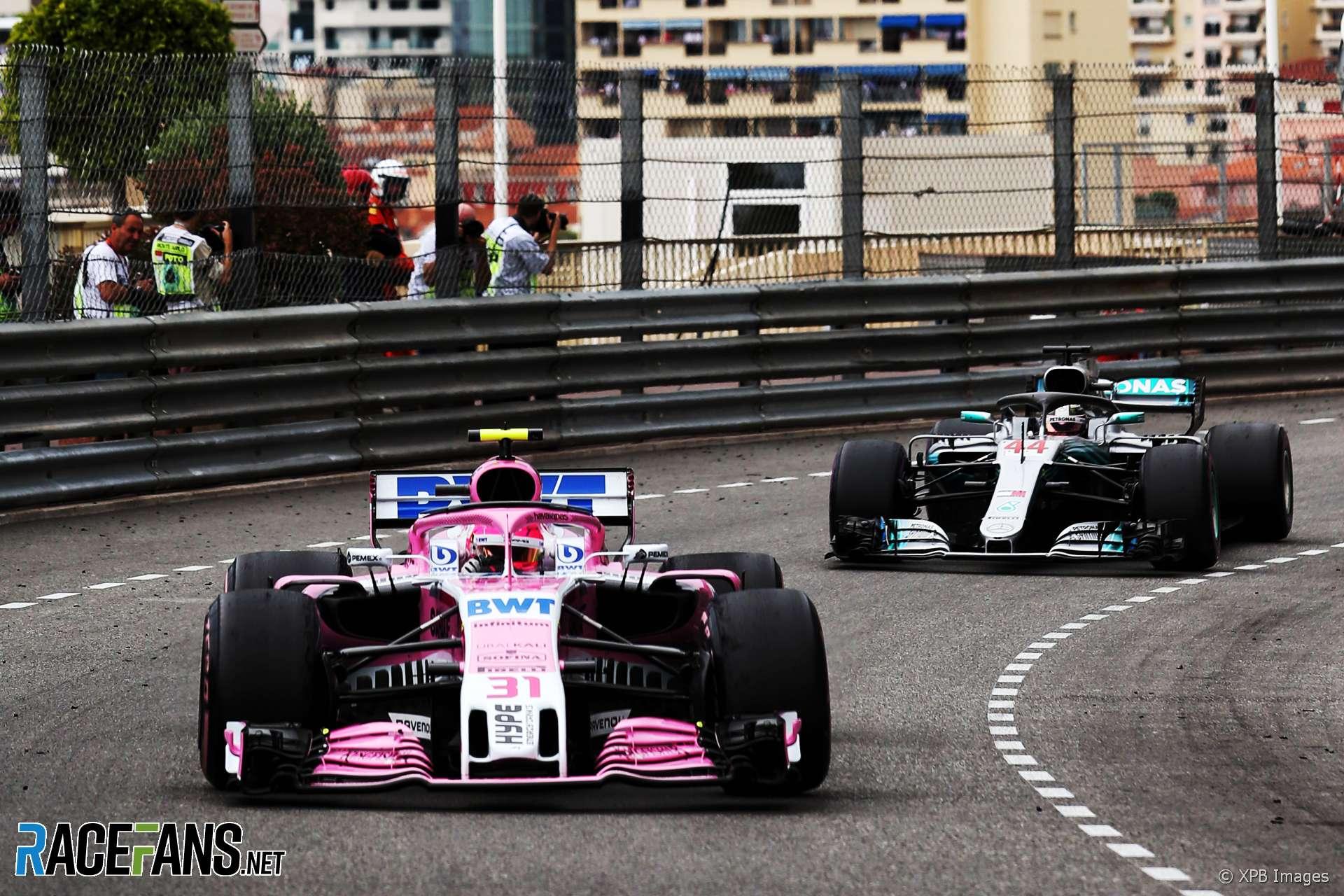 Esteban Ocon, Force India, Monaco, 2018