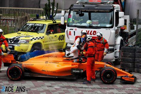 Fernando Alonso, McLaren, Monaco, 2018
