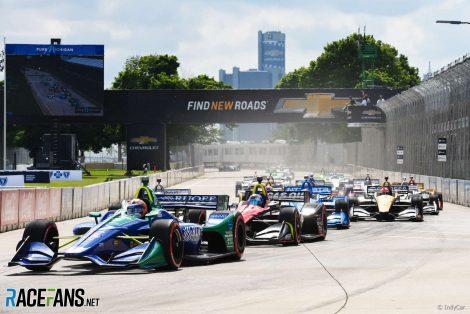 Start, IndyCar, Detroit, 2018
