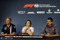 Robert Fernley, Claire Williams, Guenther Steiner, Circuit Gilles Villeneuve, 201