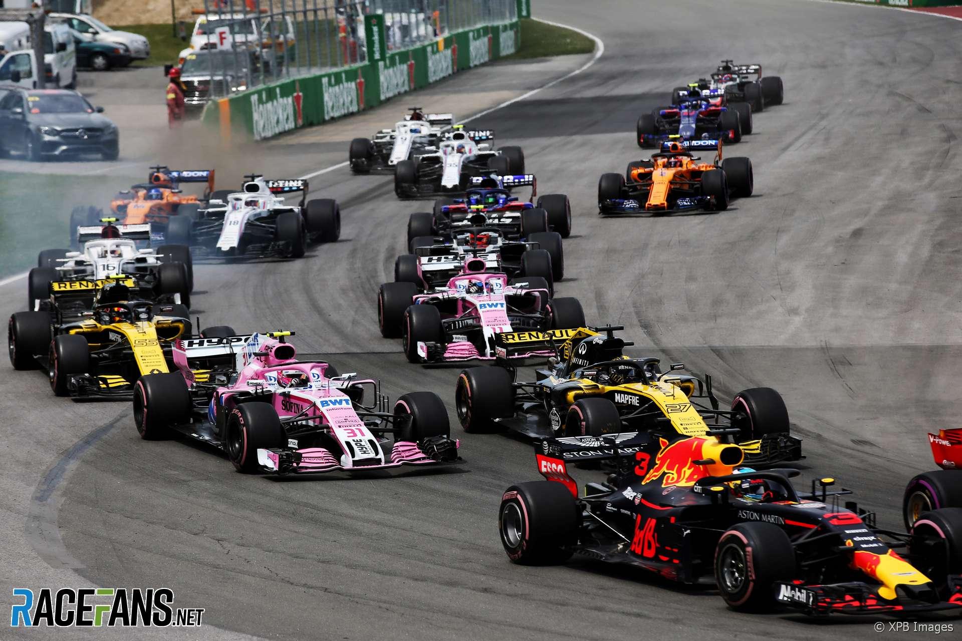 Start, Circuit Gilles Villeneuve, 2018