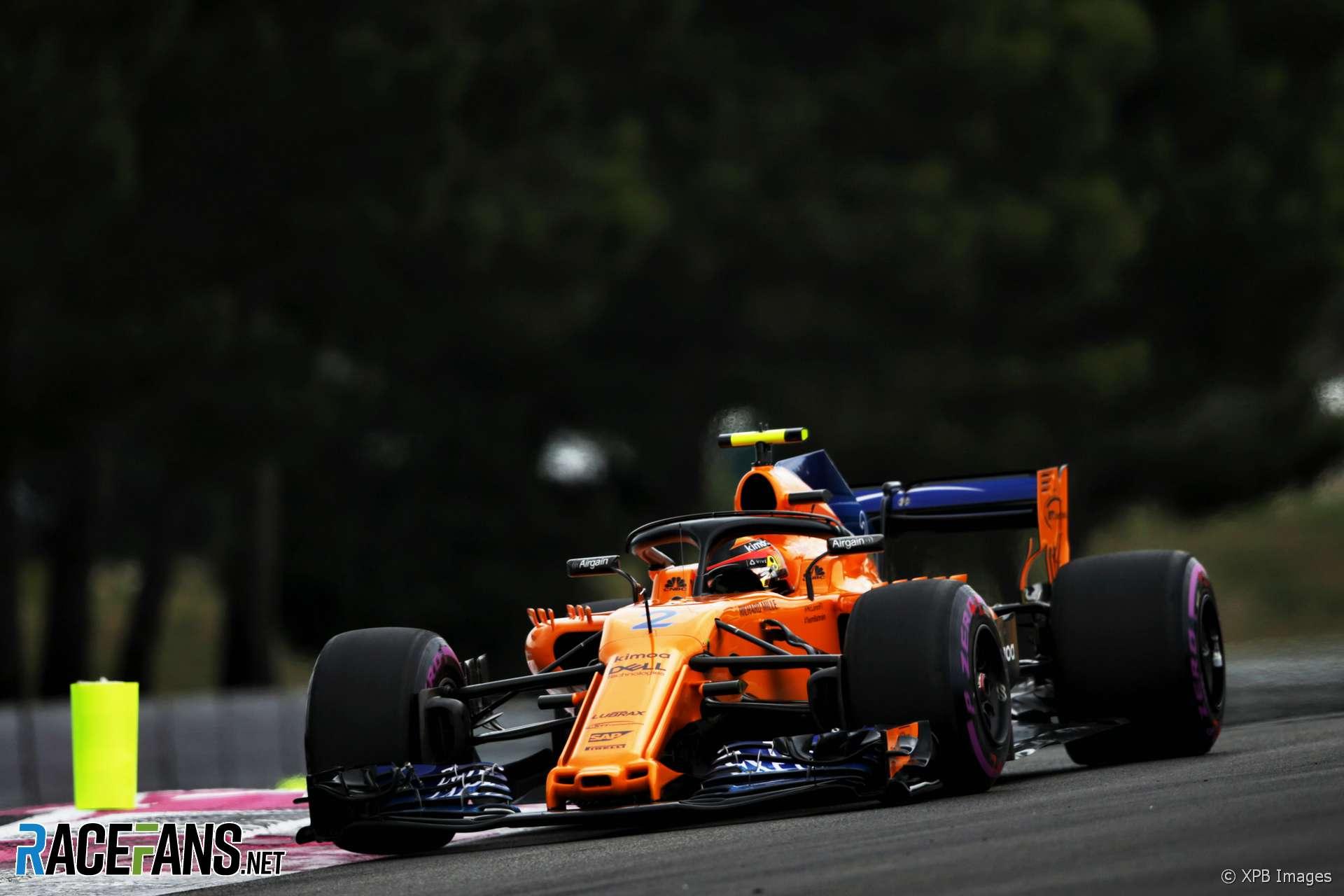 Stoffel Vandoorne, McLaren, Paul Ricard, 2018
