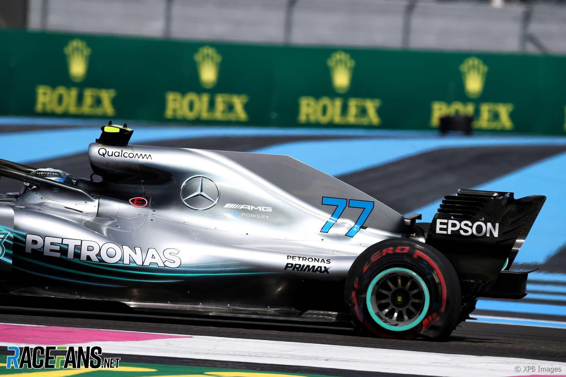 Valtteri Bottas, Mercedes, Paul Ricard, 2018