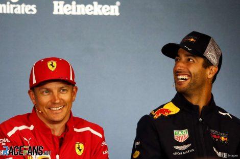 Kimi Raikkonen, Daniel Ricciardo, Red Bull Ring, 2018