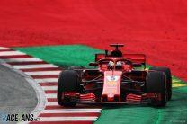 Vettel narrowly leads Hamilton as fault halts Verstappen