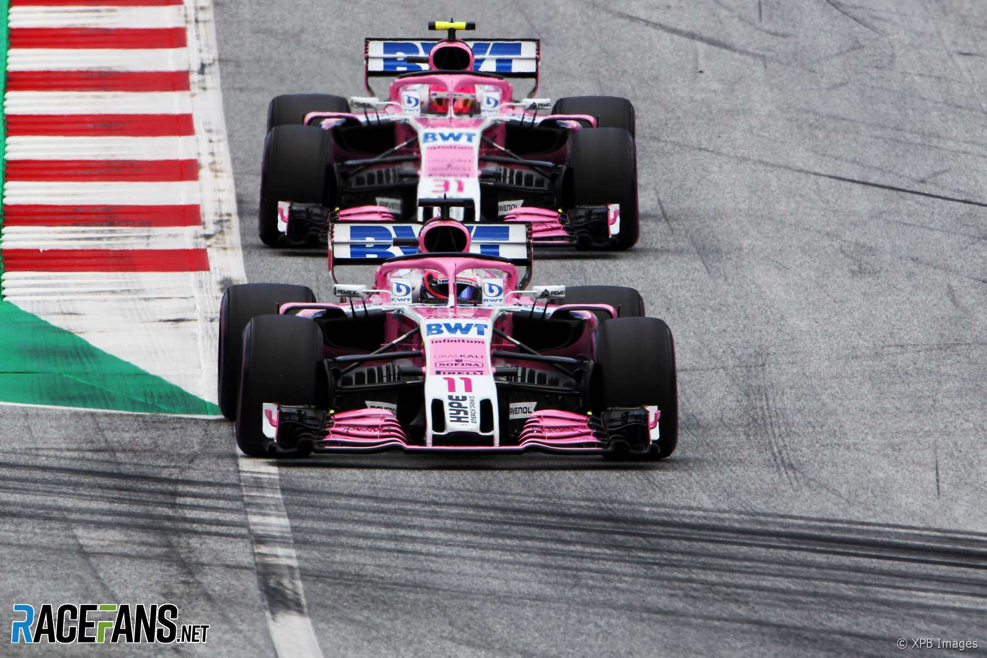 Sergio Perez, Force India, Red Bull Ring, 2018