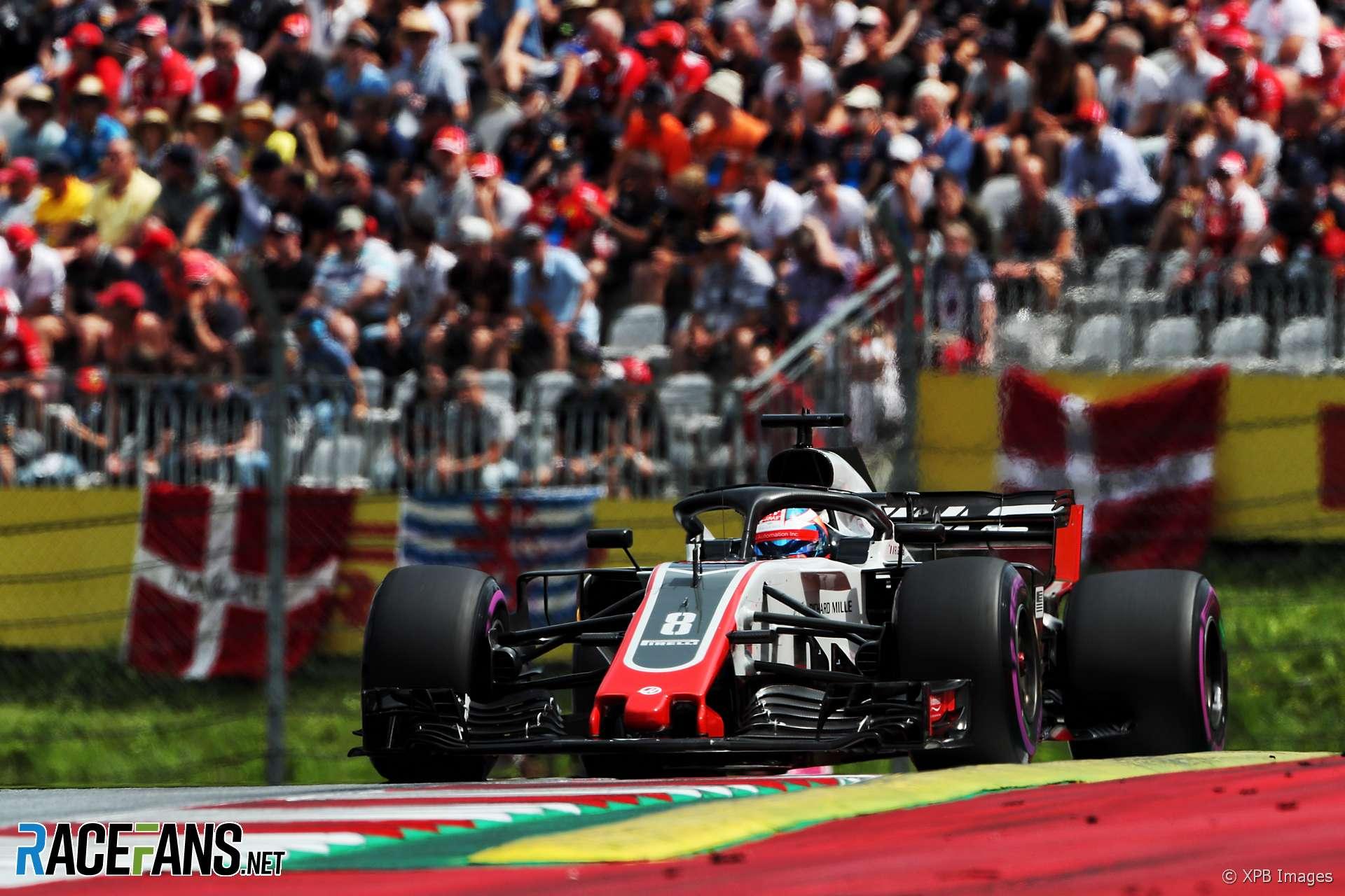 Romain Grosjean, Haas, Red Bull Ring, 2018