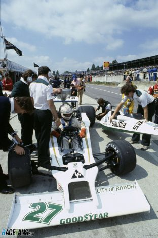 Alan Jones, Ross Brawn, Williams, Brands Hatch, 1978