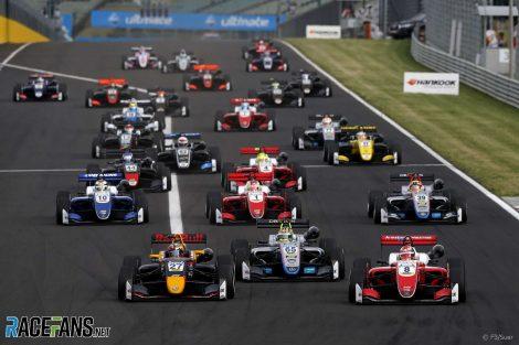 Start, European Formula Three, Hungaroring, 2018