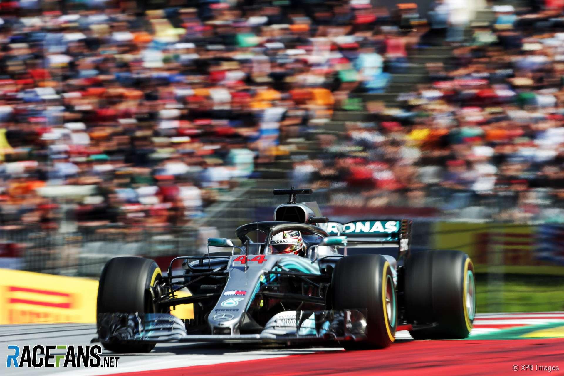 Lewis Hamilton, Mercedes, Red Bull Ring, 2018
