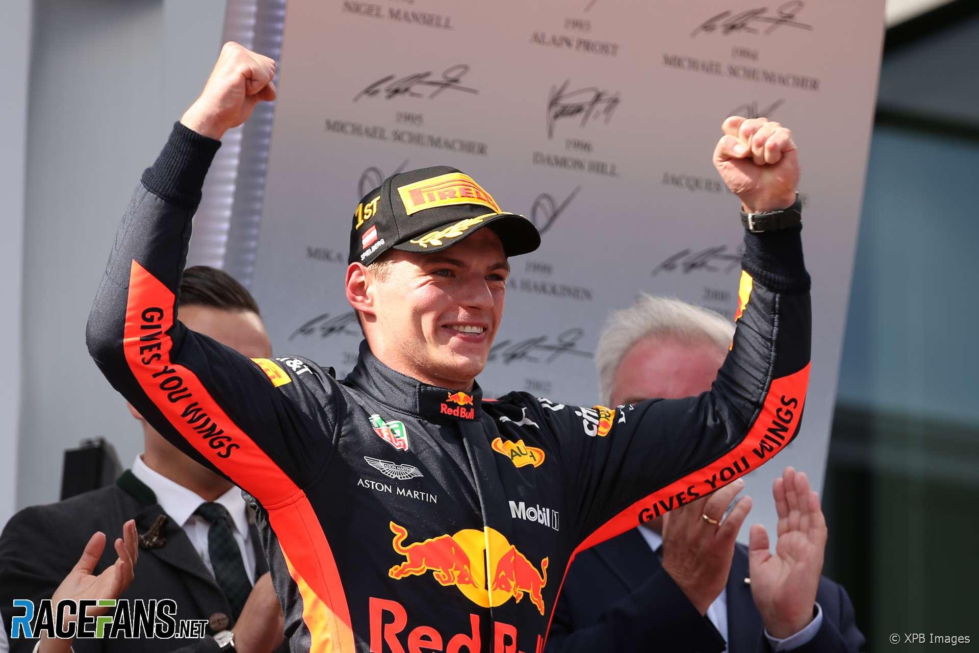 Max Verstappen, Red Bull, Red Bull Ring, 2018
